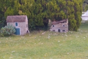 Miniature houses at St John's Lock