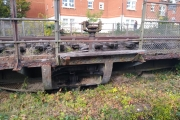 The old railway swingbridge due for renovation