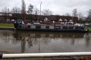 Moorings right outside Tesco at Brownhills