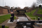 Our moorings at the top of Perry Bar Locks