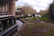 The M5 curves away at the Spon Locks