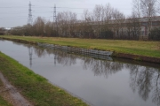 Our moorings on the Tame Valley Canal