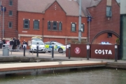 Police guard at Walsall Town Arm Basin