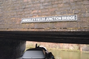 The junction leaving the Wyreley & Essington Canal