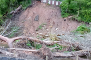 The landslip just north of Anderton
