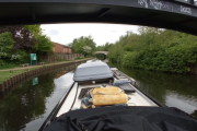 Turning towards the Leeds and Liverpool Canal