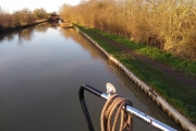 Our mooring at Bascote