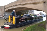 Going back up the Grand Union Canal at Napton Junction