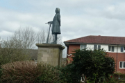 The statue of James Brindley at Etruria