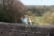 Going over the aqueduct again on the way back