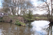 Where the River Churnet joins the canal