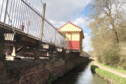 The waiting room sits above the canal!