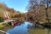 Our mooring at Consall Forge