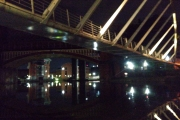 Castlefields Basin at night