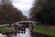 First Lock on the Trent & Mersey on leaving the Coventry Canal