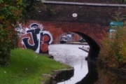 A glimpse of the  boat in Coventry Basin
