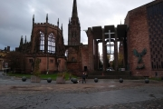 Old (bombed) Cathedral and the new replacement