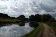 Our mooring opposite Wigan Golf Course