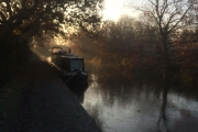 Our rural mooring on the 3rd Dec.