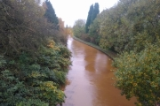 The Macc crosses the Trent and Mersey near the junction - look at the colour of the water!