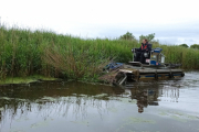 The weed cutter boat