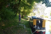 Our shady mooring at Audlem