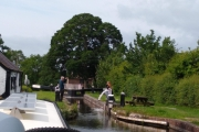 Waiting to go down the Frankton Locks