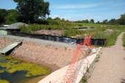 The sections of canal being restored on the Montgomery Canal