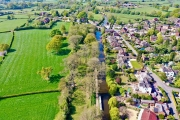 Drone pictures of the boat in Gnosall