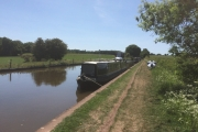 Our mooring just outside Market Drayton