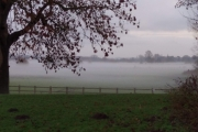 Mist over the fields in Stone