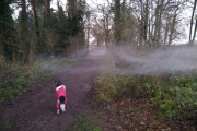 This mist was hanging just above Sal's head - quite eerie!